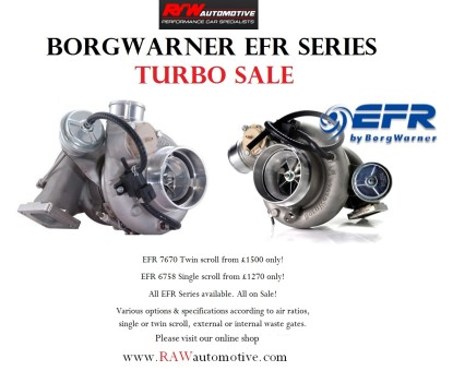 BorgWarner EFR Series turbo sale now on!